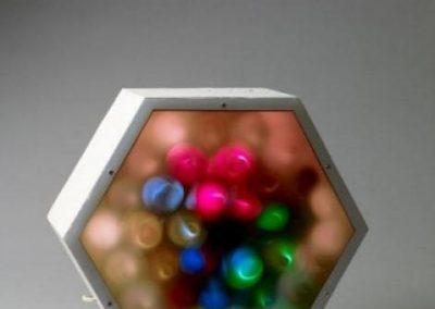 Hexagone à spirales polychromes, 1967 Technique mixte 36 x 38 x 16 cm