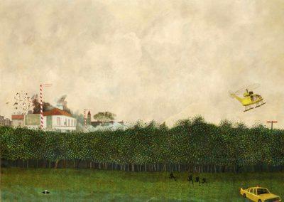 Histoire parallèle, 1974 Huile sur toile 95 x 130 cm