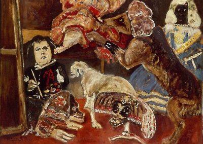 Hommage à Vélasquez Francisco Lescano dans l'atelier, 1965 Huile sur toile 138 x 181 cm