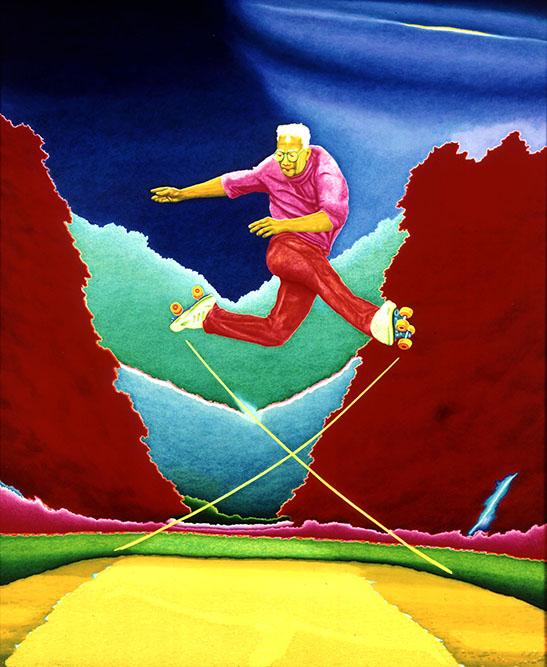 Hop! 1999 Huile sur toile