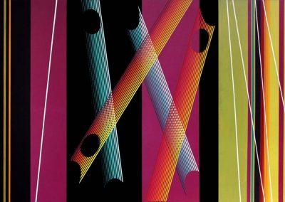 Invention n°169, 1982 Acrylique sur toile 170 x 328 cm