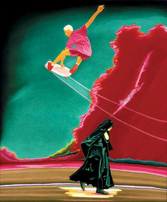 Je saute ma soeur, 1999 Huile sur toile 130 x 145 cm