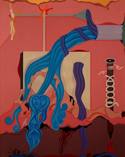Jet d'eau n°2, 2004 Huile sur toile 146 x 114 cm