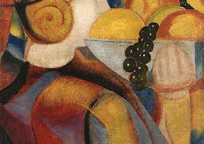 Fille avec fruits, 1917 Huile sur toile 73 x 60 cm