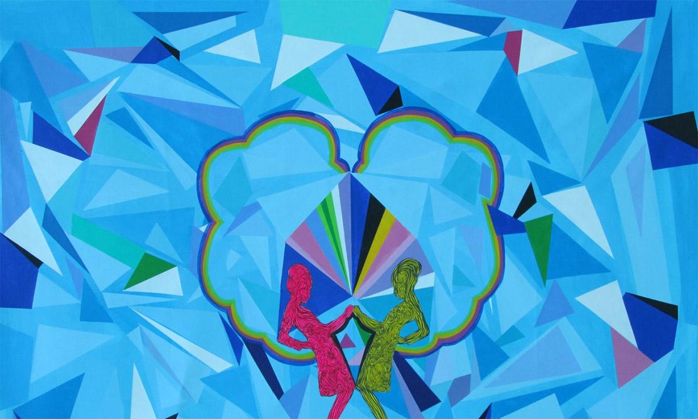 Kaléidoscope, 2007 Acrylique sur toile 150 x 220 cm