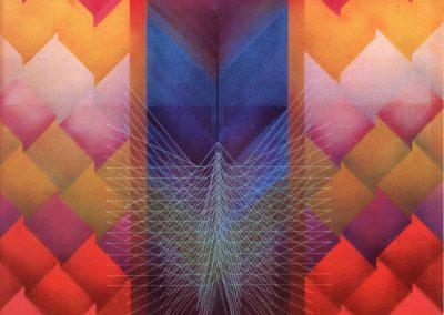 Labyrinthe de l'esprit, 1977 Technique mixte 130 x 130 cm