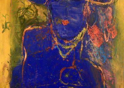 La nuit en surface, 1990 Huile sur toile 74 x 91 cm