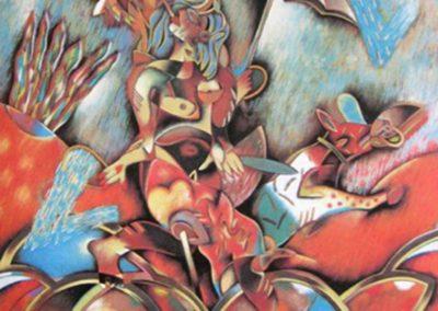 La tempête, 1988 Huile sur toile 195 x 162 cm