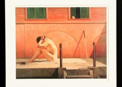 La terrasse rose, 1991 Huile sur toile 63 cm x 74 cm