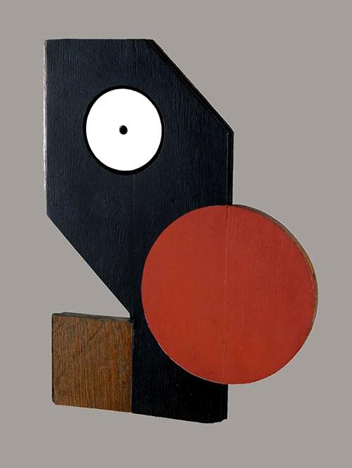 Lautréamont, 1997 Acrylique sur bois 42 x 32 cm