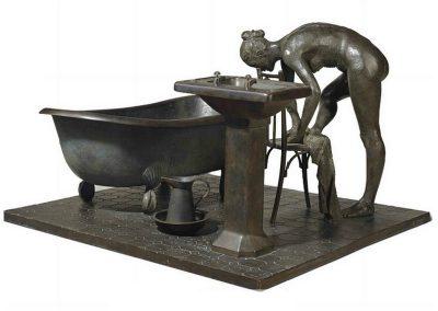 Le bain, 1987 Bronze 74 x 110 x 103 cm