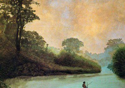 Le guet, 1984 Huile sur toile 80 x 150 cm