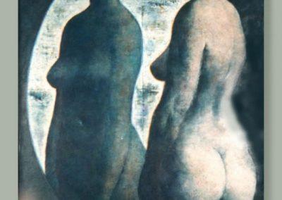 Le miroir, 1971 Huile sur toile, 130 x 100 cm