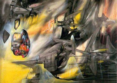 Le pendu, 1942 huile sur toile 97 x 130 cm