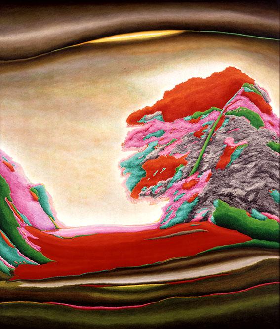 Les 4 stations, 1998 Huile sur toile 130 x 145 cm