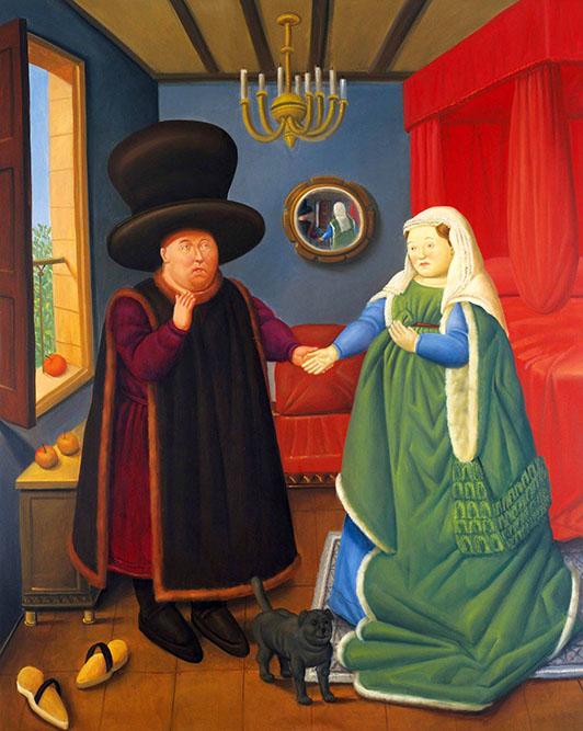 Les époux Arnolfini, 1978 Huile sur toile 135 x 118 cm