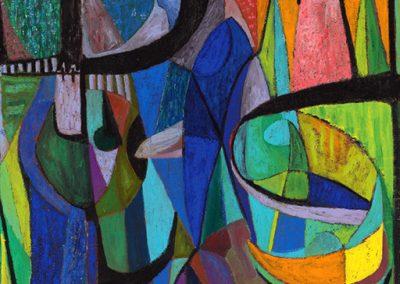 Les hallucinés, 1959 Huile sur toile 180 x 140 cm