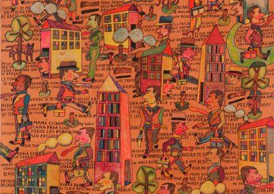 Les nominés, 1980 Huile sur toile 114 x 146 cm