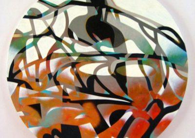 Le souffle de la terre, 2011 Huile sur toile 120 cm