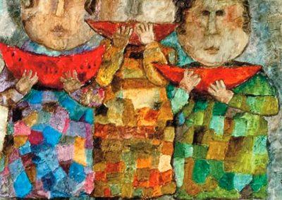 Les pastèques, 1969 Huile sur toile 72 x 60 cm