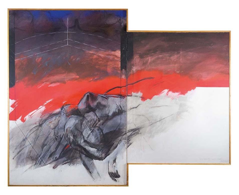 Lonquén, dyptique Huile sur toile 195 x 130 cm