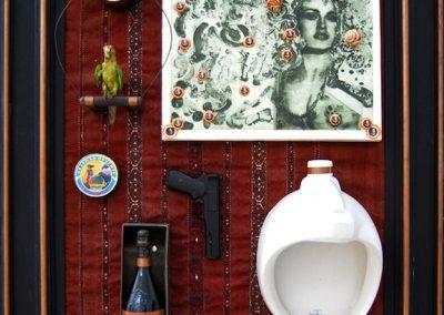 Madonna à l'urinoir, 1993 Technique mixte 100 x 180 cm