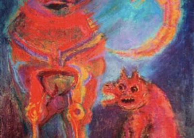 Malkikuna, 1998 Huile sur toile 90 x 40 cm