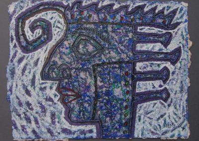 Masque, 1985 Acrylique sur papier 56 x 76 cm