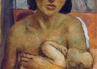 Maternité, 1939 Huile sur toile 65 x 50,5 cm