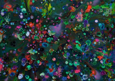 Millefiori, 2010 Acrylique sur toile 150 x 150 cm