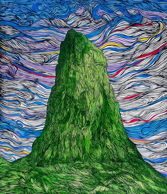 Montagne, 2007 Acrylique sur toile