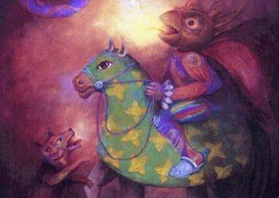 Moskoukona, 1997 Huile sur toile 130 x 97 cm