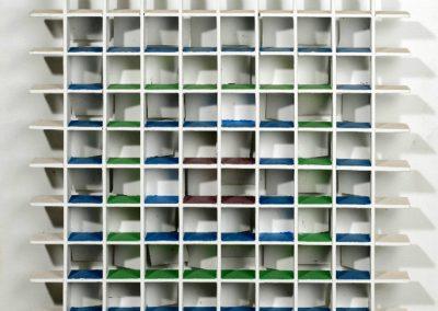 N°1915 - atmosphère chromoplastique n°120, 1964 Technique mixte 65 x 65 cm