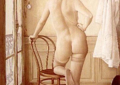 Nu à la chemise, 1972 Huile sur toile 85 x 100 cm