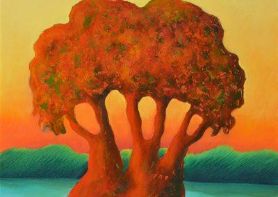 Ombu, 1965 Huile sur toile 60 x 50 cm