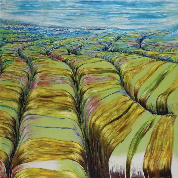 Paisaje trans...gredido, 1999 Acrylique sur toile 200 x 200 cm