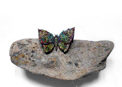 Papillon Suède, 2000 Technique mixte 25 x 35 cm