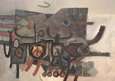 Peinture M62918, 1962 Technique mixte 100 x 130 cm