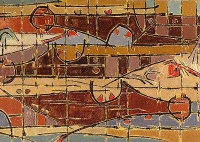 Personnages #1, 1953 Huile sur toile 80 x 130 cm