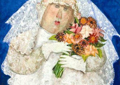Petite amie, 2000 Huile sur toile 55 x 46 cm