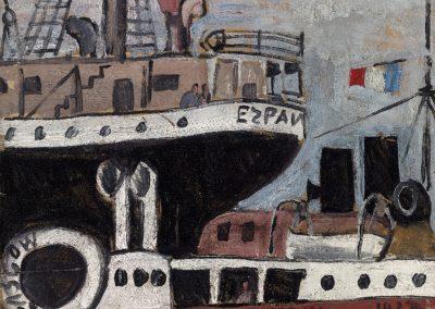 Port et bateaux, 1927 Huile sur carton 40 x 51 cm