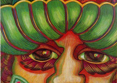 Portrait de femme, 1990 Huile sur toile 100 x 73 cm