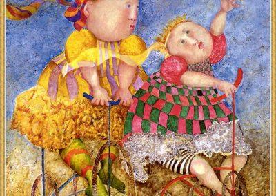 Promenade, 2000 Huile sur toile 65 x 60 cm