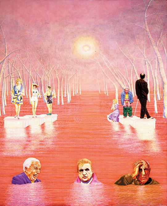 Promenade des artistes, 1983 Huile sur toile 220 x 190 cm