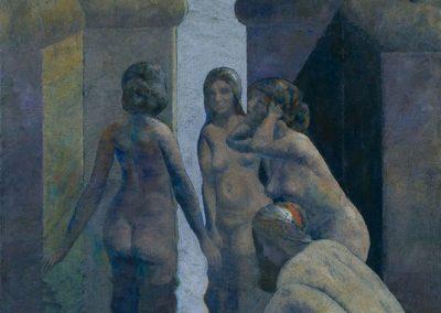 Quatre baigneuses, 1994 Huile sur toile 81 x 65 cm