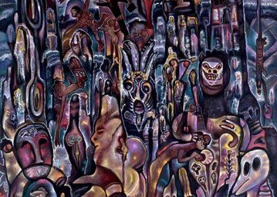 Rare violence, 2009 Acrylique sur toile 150 x 120 cm