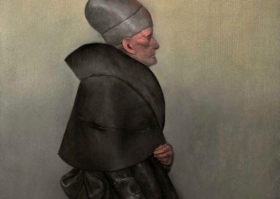 Homme au chapeau, 1966 Huile sur toile 50 x 100 cm
