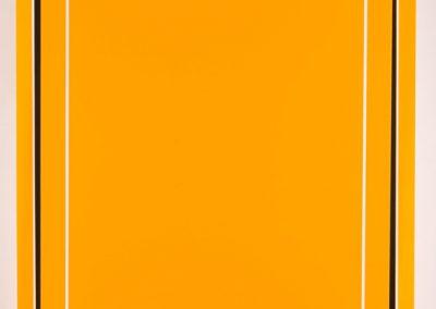 Rectangle jaune ouvert, 2007 Technique mixte 104 x 88 x 7 cm