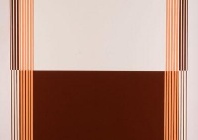 Rectangle alternés/blanc+brun, 2007 Technique mixte 118 x 103 x 11 cm