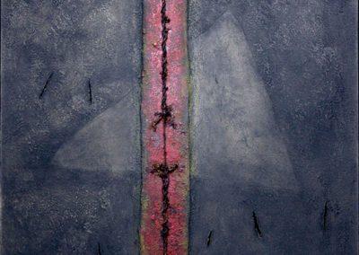 Relief, dominante verticale, 2008 Technique mixte 82 x 101 cm